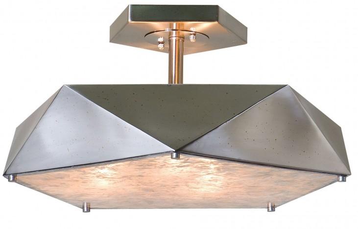 Tesoro 3 Light Antique Nickel Semi Flush