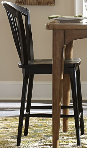 Candler Black Windsor Counter Chair
