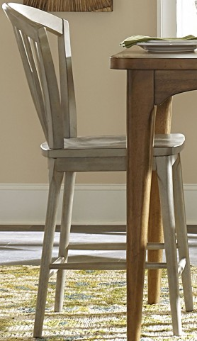 Candler Gray Windsor Counter Chair