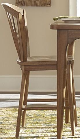 Candler Nutmeg Windsor Counter Chair Set of 2
