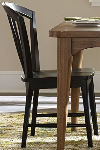Candler Black Windsor Side Chair Set of 2