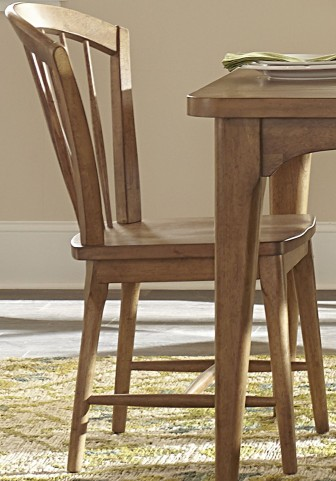Candler Nutmeg Windsor Side Chair Set of 2