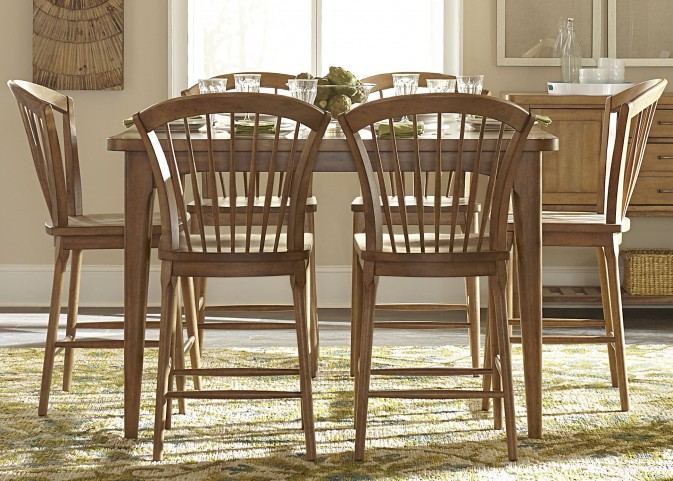 Candler Nutmeg Extendable Gathering Dining Room Set