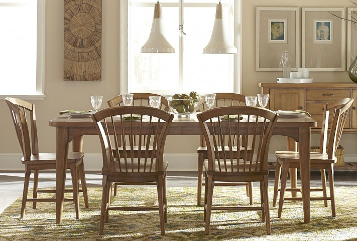 Candler Nutmeg Extendable Dining Room Set