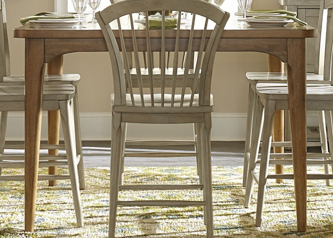 Candler Nutmeg Extendable Gathering Dining Table