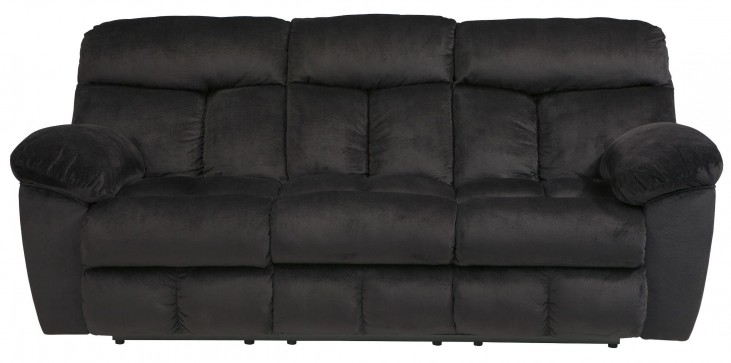 Saul Black Reclining Sofa