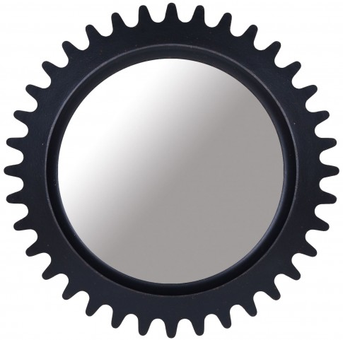 Epicenters Williamsburg Paint Black Round Mirror
