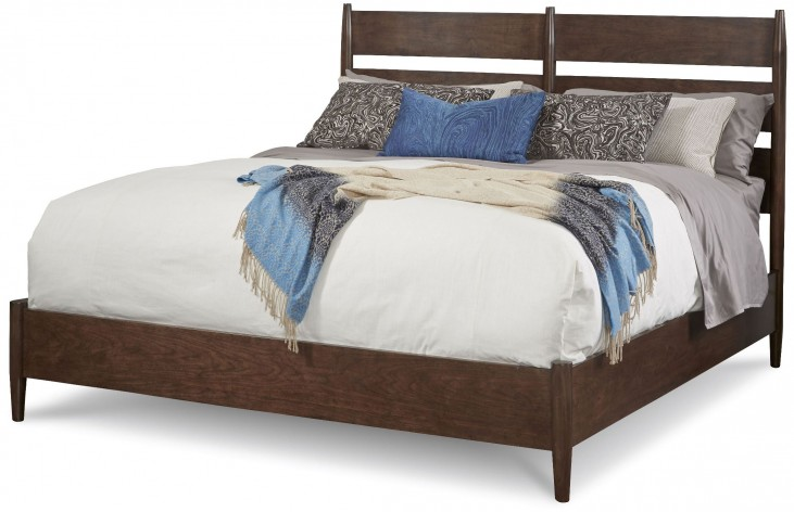 Epicenters Silver Lake Cal. King Slat-Back Platform Bed