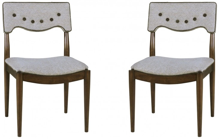 Epicenters Silver Lake Upholstered Back Side Chair Set of 2
