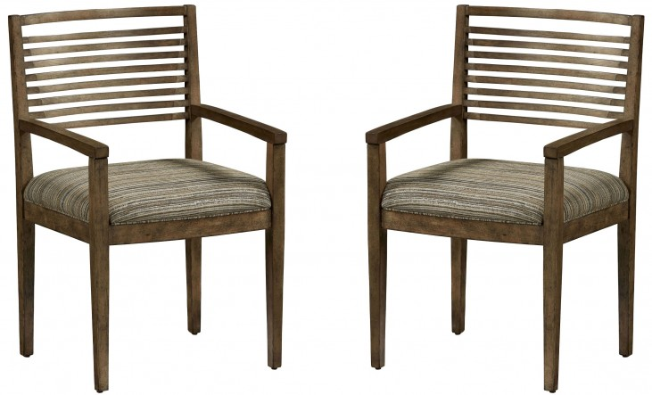 Epicenters Williamsburg Slat Back Arm Chair Set of 2