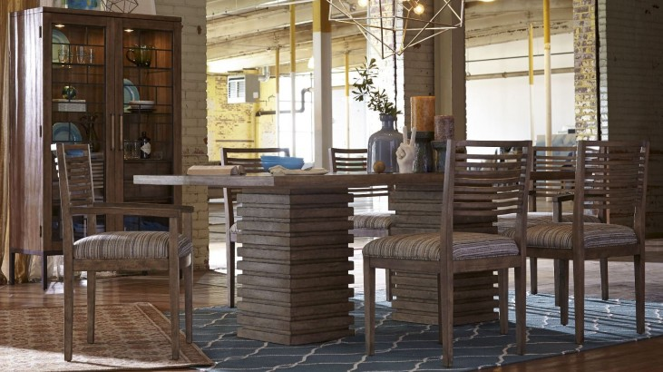 Epicenters Williamsburg Double Pedestal Dining Room Set