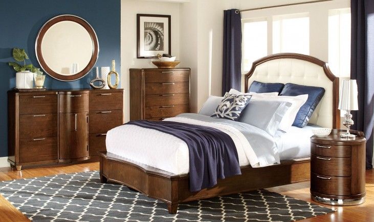 Zelda Bonded Leather Platform Bedroom Set