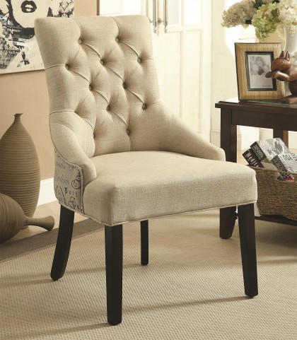 902171 Tufted Accent Chair Set of 2