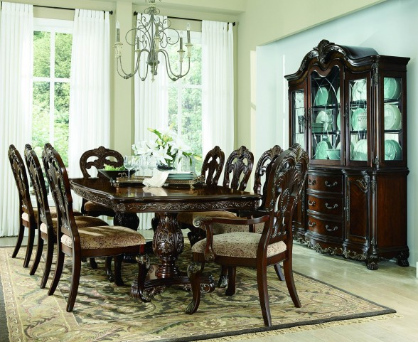Deryn Park Cherry Extendable Leg Dining Room Set
