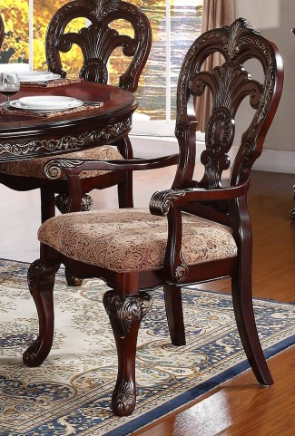 Deryn Park Cherry Arm Chair Set of 2