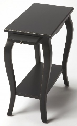 Sabrina Black Licorice Chairside Table