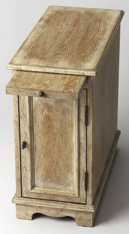 Winslow White Washed Chairside Chest