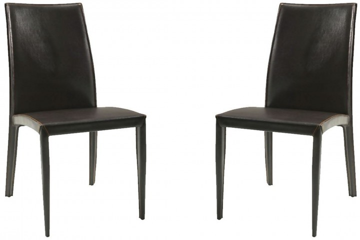 224 Brown Side Chair Set of 2