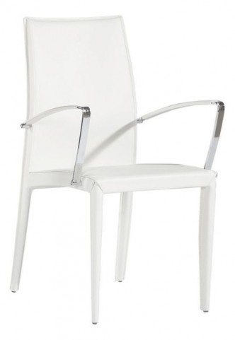 224A White Arm Chair
