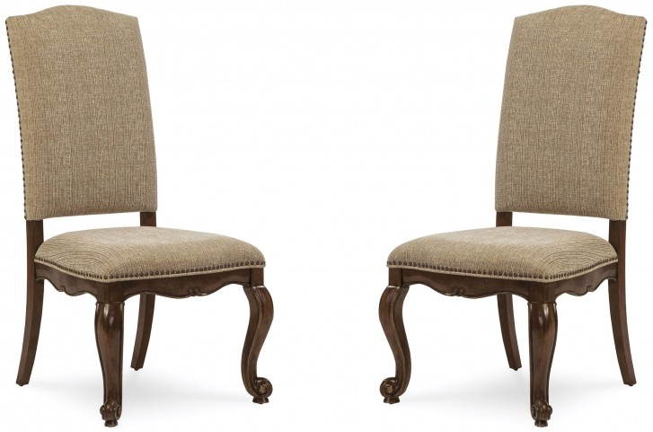 La Viera Upholstered Side Chair Set of 2