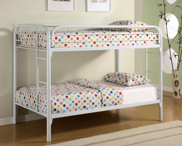 Fordham White Twin Over Twin Metal Bunkbed