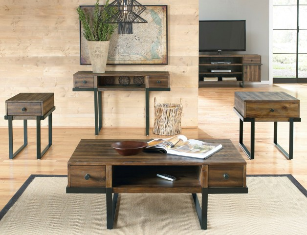 Paxton Wire Brushed Bronze Occasional Table Set