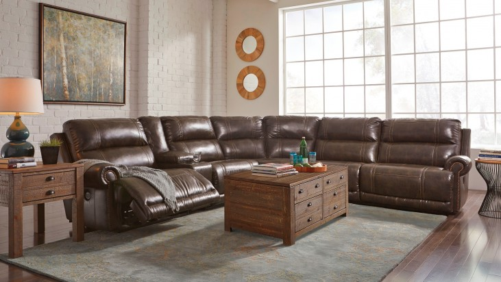 Dak DuraBlend Antique Reclining Sectional