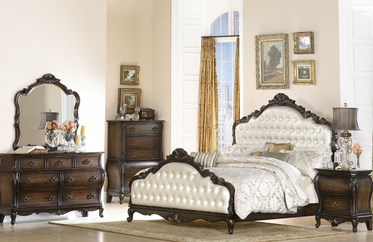 Bayard Park Dark Brown Cherry Panel Bedroom Set