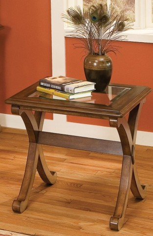 Madrid Golden Brown Cherry End Table