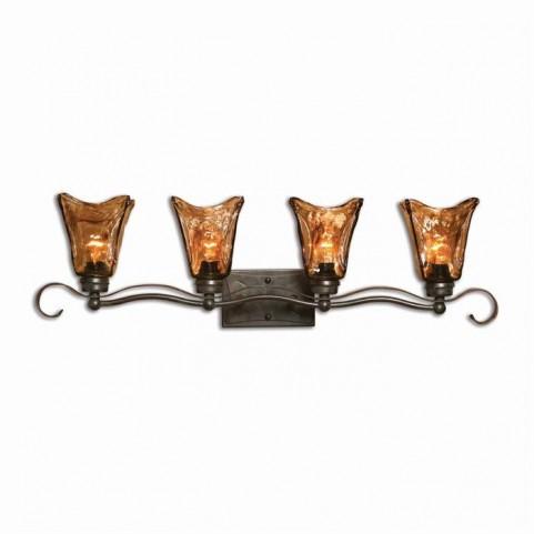 Vetraio 4 Light Bronze Vanity Strip