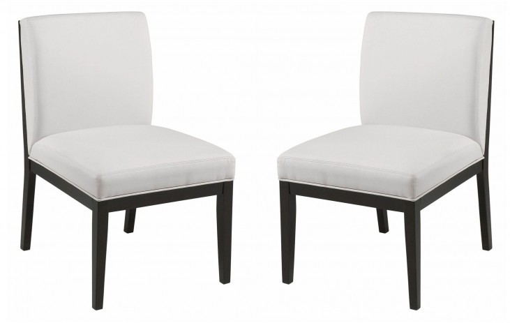 Othello White Dining Chair Set of 2