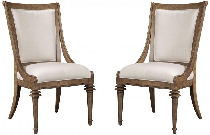 Pavilion Upholstered Back Sling Chair Set of 2