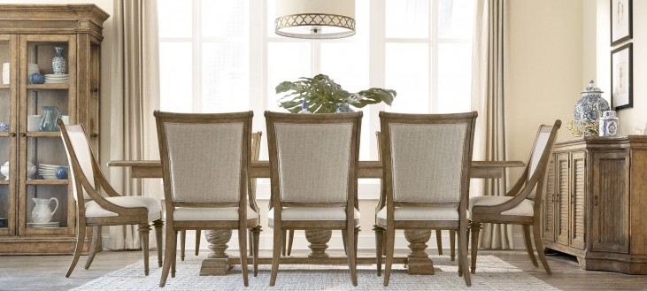 Pavilion Trestle Extendable Dining Room Set