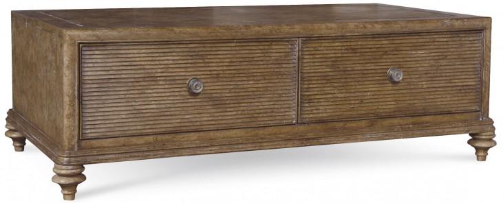 Pavilion Rustic Pine Storage Cocktail Table