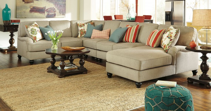 Kerridon Putty RAF Large Chaise Sectional