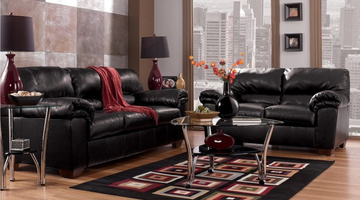 Commando Black Living Room Set
