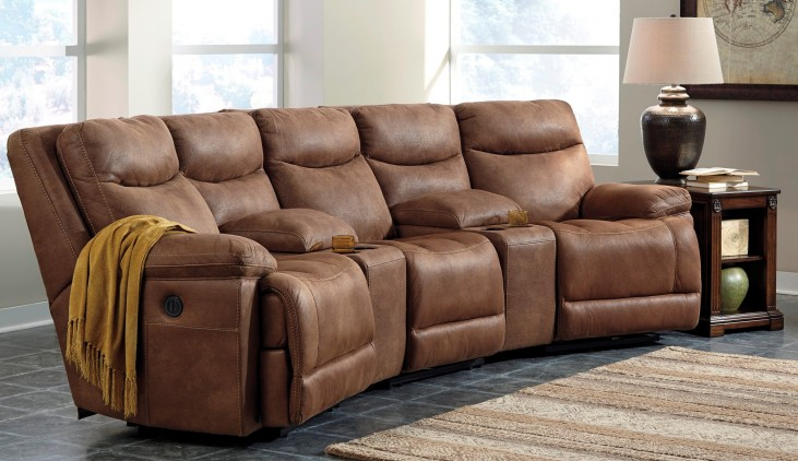 Valto Saddle Medium Reclining Entertainment Sectional Seating