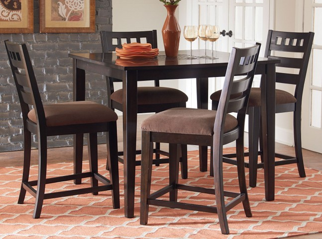 Sparkle Two Tones 5 Piece Counter Height Dining Room Set