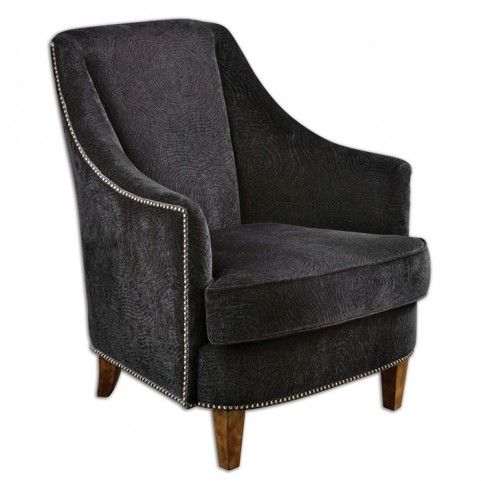 Nala Midnight Black Armchair
