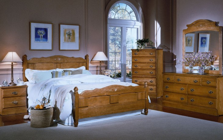Carolina Golden Oak Youth Panel Bedroom Set