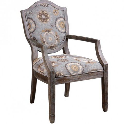 Valene Weathered Accent Chair