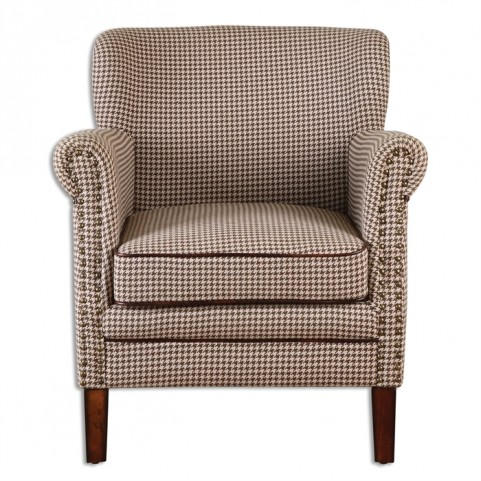 Tinsley Hounds-Tooth Club Chair