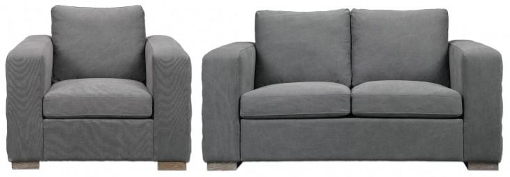 Inari Stonewashed Gray Living Room Set