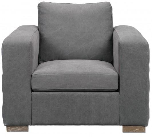 Inari Stonewashed Gray Armchair