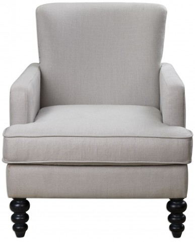 Flannan White Textured Armchair