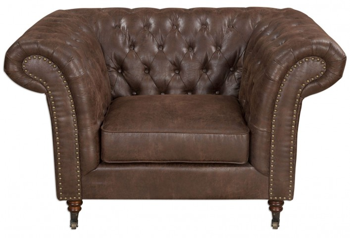 Redmond Weathered Brown Armchair