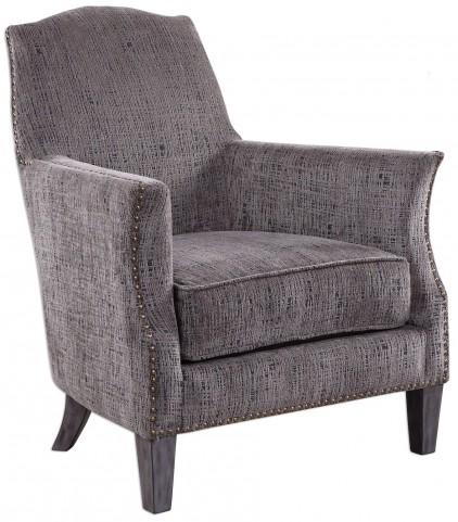 Dermot Soft Gray Accent Chair