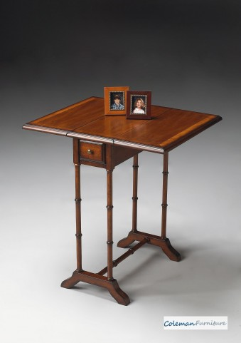Umber Drop-Leaf Table