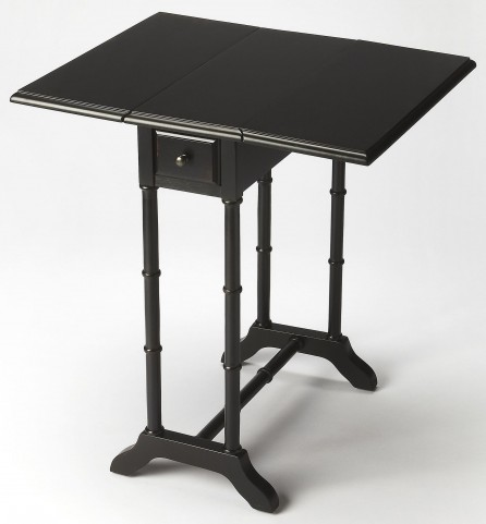 Darrow Black Licorice Drop-Leaf End Table