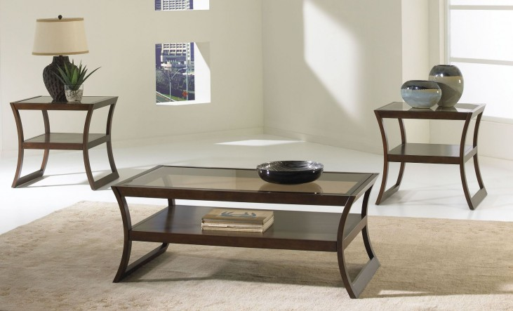 Utopia Dark Merlot Stain 3 Piece Occasional Table Set